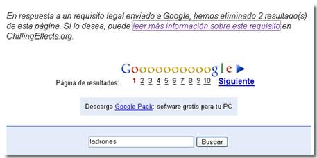 google ladrones sgae